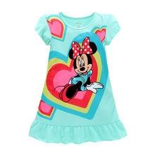 bf76e8313eb 2018 Платья для девочек Минни Мышь Эльза Анна София детские пижамы ночные  рубашки одежда принцессы комплект