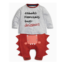 Spring  2016 2pcs Newborn Infant Baby Boys Kid Clothes T-shirt Tops + Pants Outfits Sets 0-24months Children's Clothing Set