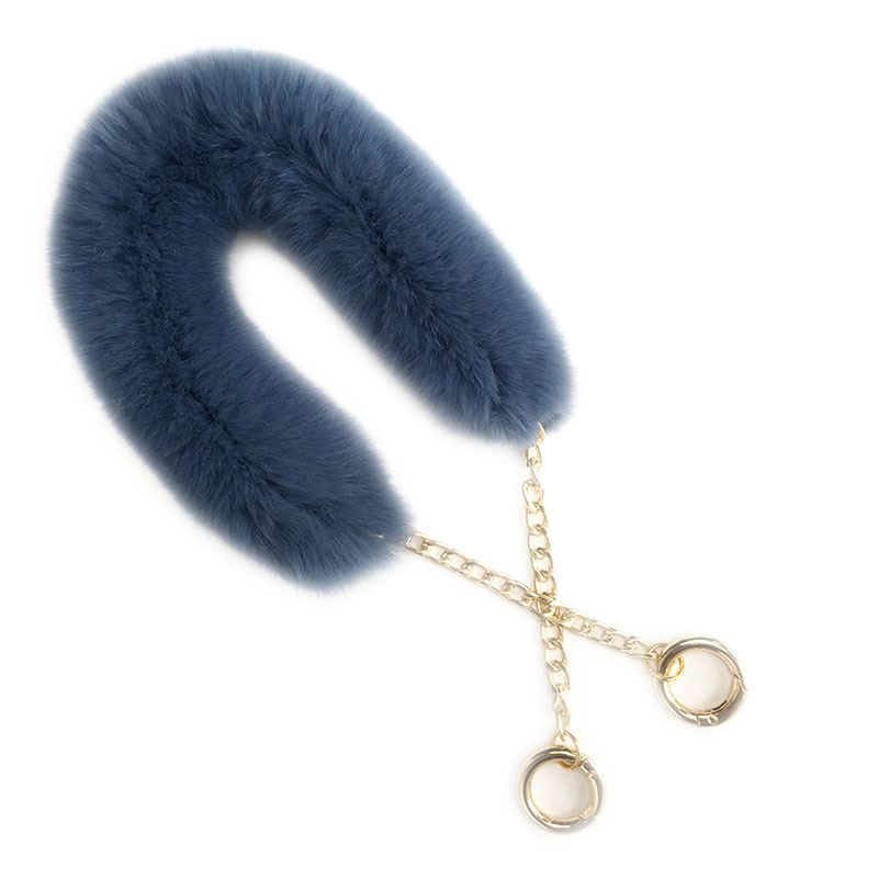 55cm Replacement Bag Strap Genuine Real Rabbit Fur Handbag Should Handle For Women Purse Belts Charm Winter Accessories R33