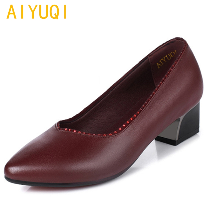 AIYUQI 2018 new spring genuine leather women's shoes party shoes for women in red comfortable dress fashion sexy shoes women aiyuqi 2018 spring new genuine leather women shoes plus size 41 42 43 comfortable round head fashion handmade ladies shoes