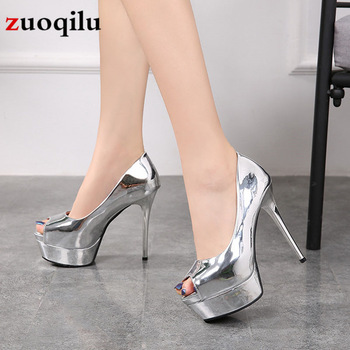 sexy platform heels shoes high-heeled shoes woman pumps wedding party shoes high heels women shoes 12 cm sapatos feminino 2019 image