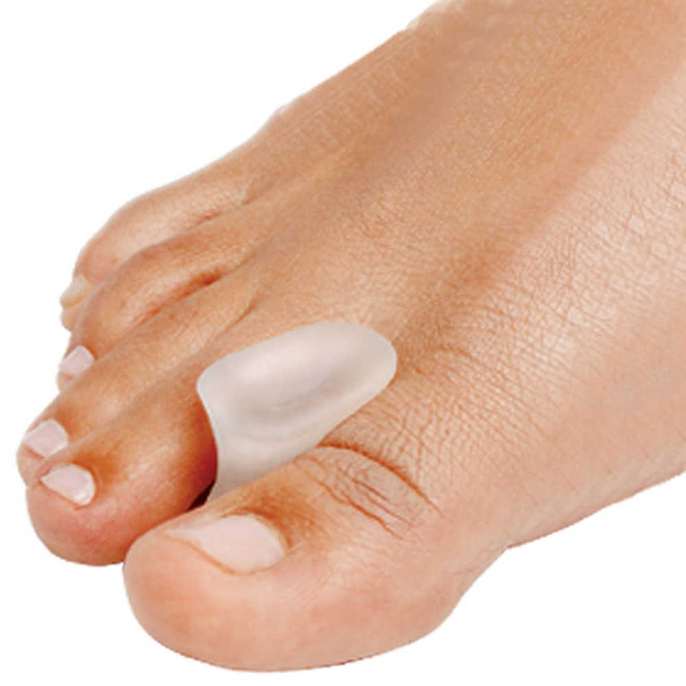 2Pcs Silicone Gel Toe Separator Straightener Relief Hallux Valgus Pain Friction Pressure Feet Care Velvet Smooth