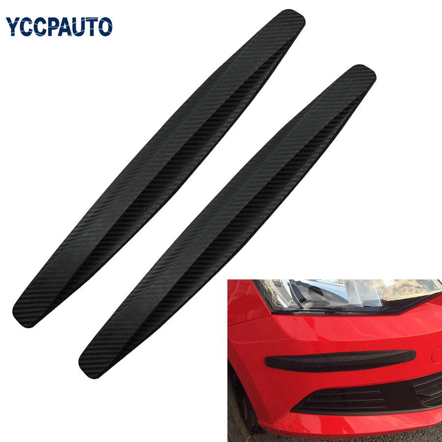 Car Corner Protector Guard Strip Crash Bar Bumper Strip Trim Protection Guards Lip Deflector 2pcs Accessory стоимость