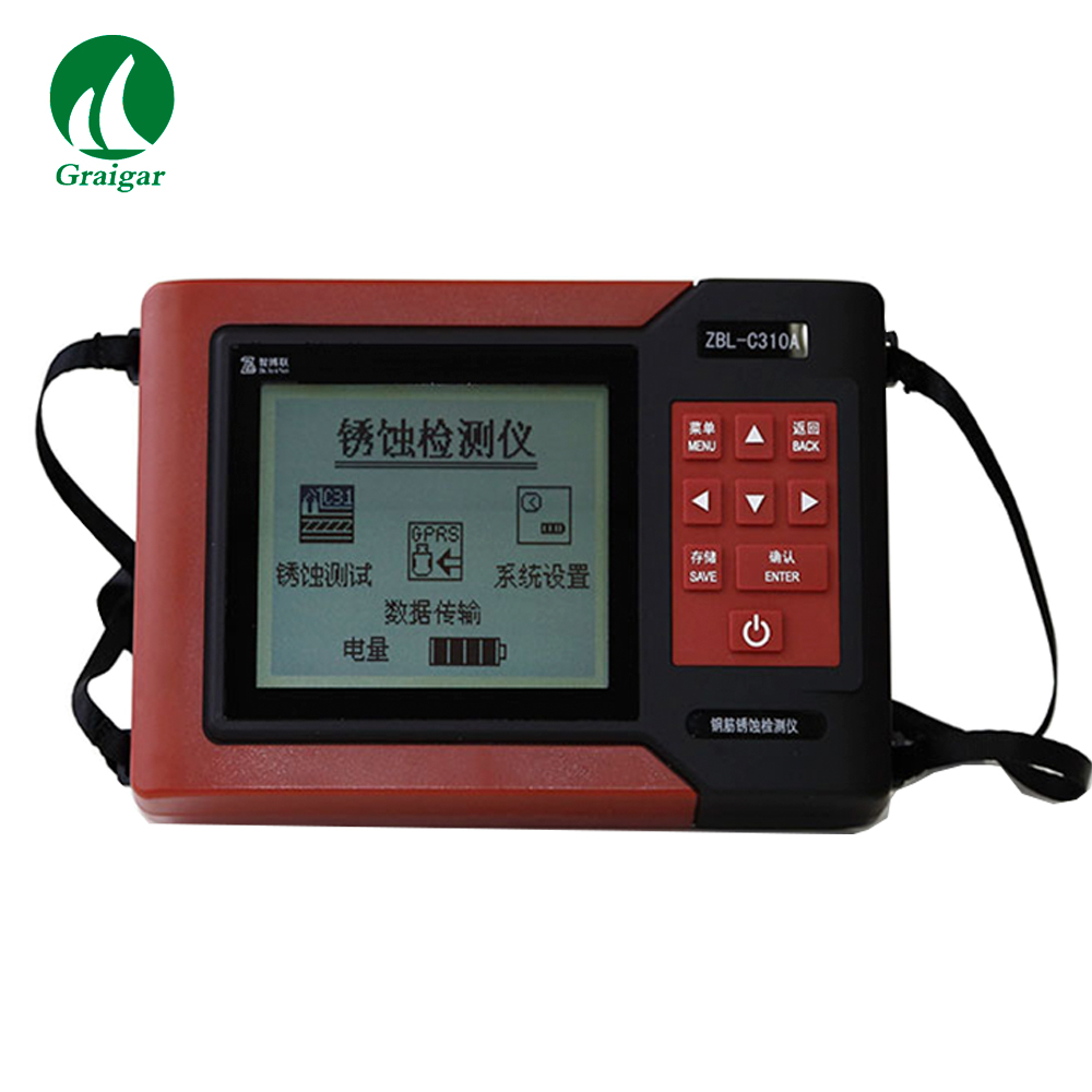 ZBL-C310A Rebar Detection Rebar Corrosion Detector Rebar Scanner Concrete Rebar Locator + 1000mV Data Storage Store 234 Points image