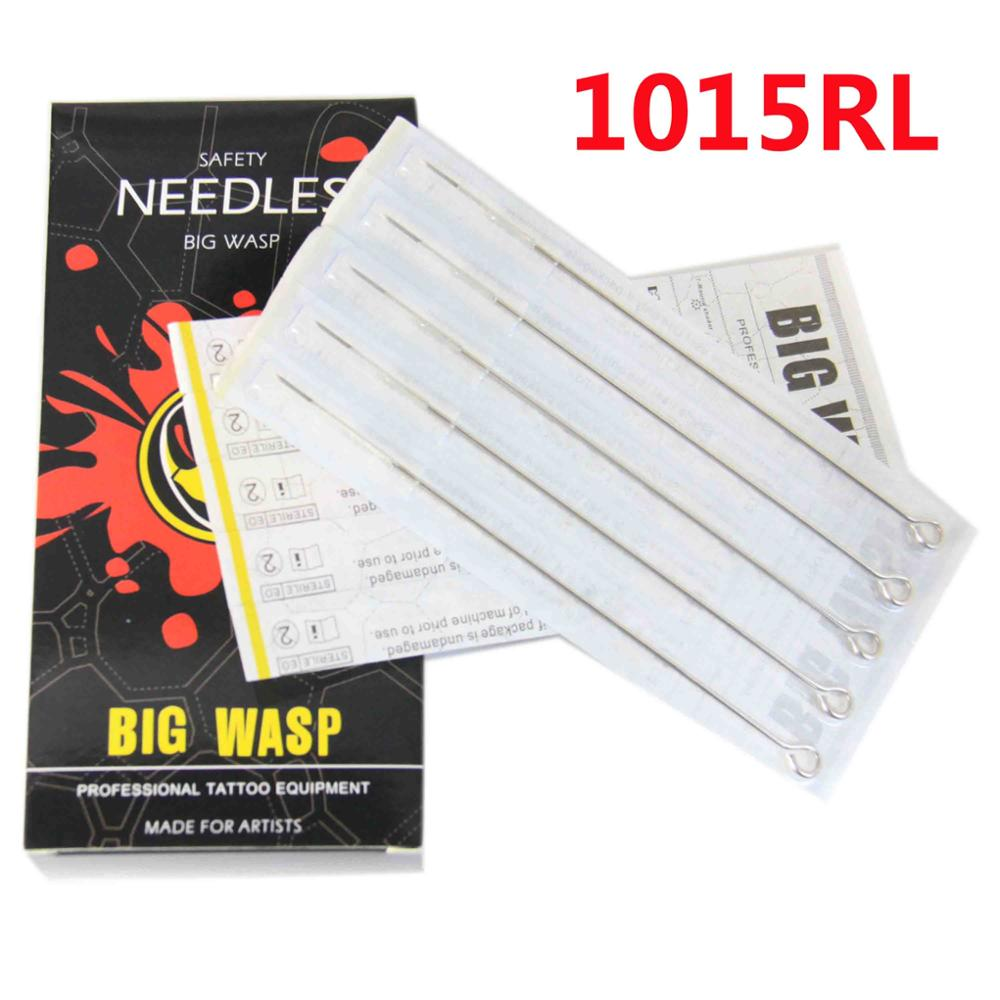 BIGWASP Premium Quality Tattoo Needles 15 Round Liner (15RL) Disposable & Sterilized - 50pcs/box