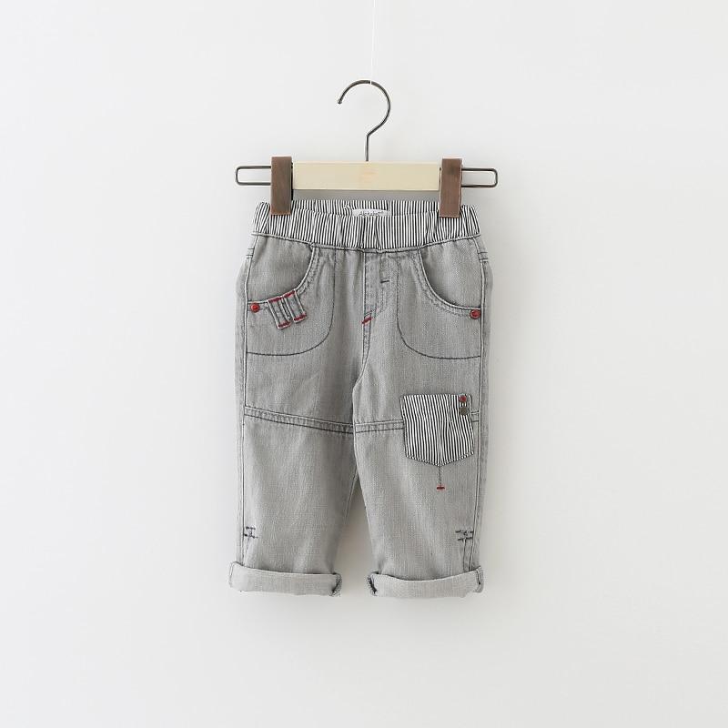 Dla dzieci spodenki długość łydki spodnie jeansowe chłopcy przycięte spodnie kowbojskie maluch spodenki noworodka siedem-cal spodnie dziewiątego spodnie 3 M-24 M
