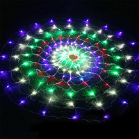 Thrisdar 1.5x1.5M 160Leds Spider Mesh Net Fairy String Light 8 Modes Outdoor Party Wedding Holiday Curtain Icicle Light