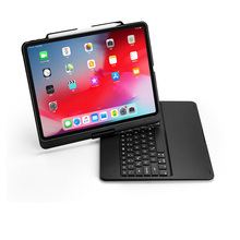 [NEW] Bluetooth keyboard Case for Apple iPad Pro 12.9(2018), 360 Rotation and 7-Color Backlit Flip Cover Hard Wireless Keyboard