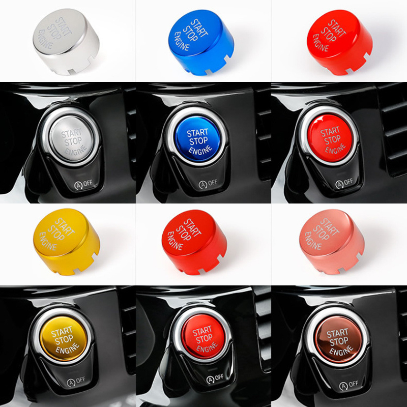 Car Engine Start Stop Button Replace Cover For BMW F Chassis F10 F15 F25 F30 F34 F48 G30 G11 X1 X3 X4 X5 X6 1 3 4 5 6 7 series executive car