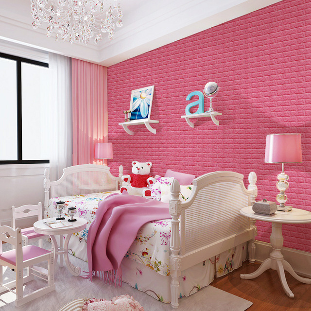 6 Color 60*60cm PE Foam 3D Wall Sticker Wallpaper Art Safety Home ...