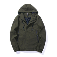BROWON Brand Men Street Jacket 2019 Men Jackets and Coats Streetwear Solid Color Army Military Jacket Fashion with Hooded