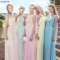 Multi Wear Convertible Bridesmaid Dresses Pink And Purple Dress Vestidos De Festa Custom Made Bride Maid