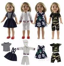 """סגנון חדש 4 סט בובת בגדים עבור 14.5 """"אינץ אמריקאי בובת נסיכת תלבושות שמלת תלבושת"""