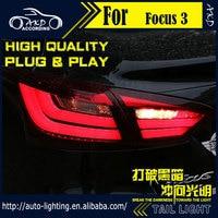 AKD Car Styling Tail Lamp For Ford Focus Tail Lights 2012 Sedan LED Tail Light LED