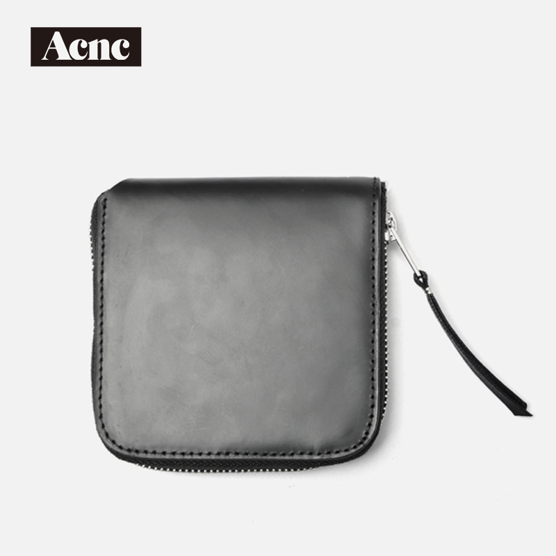 Acne unisex genuine leather short wallet,Acne men real leather lady purse,Acne women leather short purse,free shipping цена