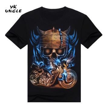 Hip Hop T shirt Men Tshirt T-shirt 3D Sickle Skulls Motorcycle Shackle Printed Casual-shirt Mens Casual Clothes Tee 3XL,YK UNCLE