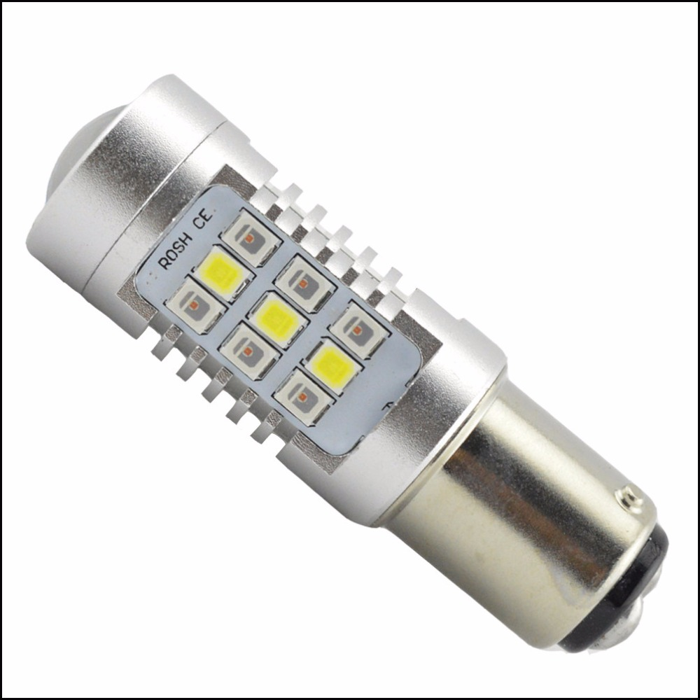 1PC High Power 12V 24V 31-2835SMD 1157 Dual-Color White/Amber Switchback LED Bulbs For Front Turn Signal