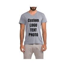Мужская футболка с v образным вырезом и коротким рукавом