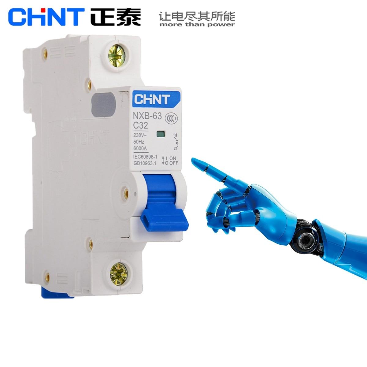 CHINT NXB-63 1A 2A 3A 6A 10A 16A 20A 25A 32A 40A 63A 1P 2P 3P 4P 230V 220V Miniature Circuit breaker MCB NEW DZ47