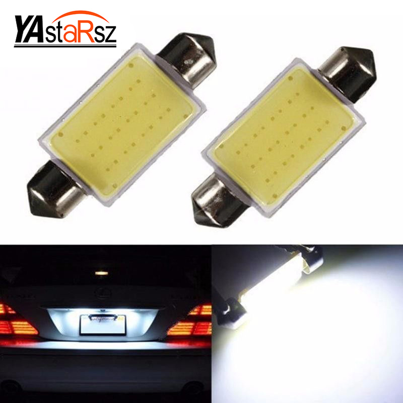 1 PCS 31mm 36mm 39mm c5w festoon cob led car dome light interior reading bulb auto license plate lamp 12V roof light Source 48 led auto car dome festoon interior bulb roof light lamp with t10 ba9s festoon adapter base reading light high quality