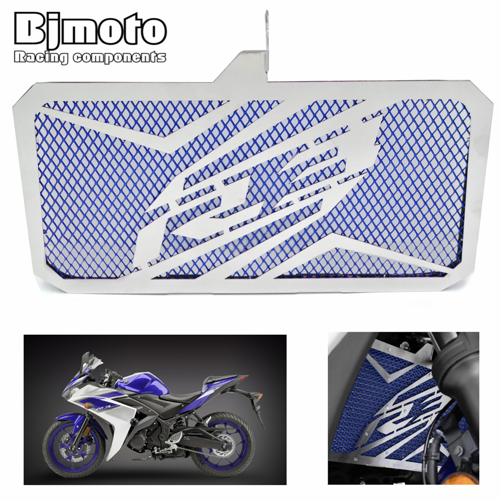 BJMOTO Motorcycle Stainless Steel Radiator Guard Cover Protector For Yamaha R3 2015 2016 2017 YZF-R3 ABS 2017 stainless steel motorcycle radiator grille guard cover protector for kawasaki z300 z250 compatible abs 2013 2014 2015 2016
