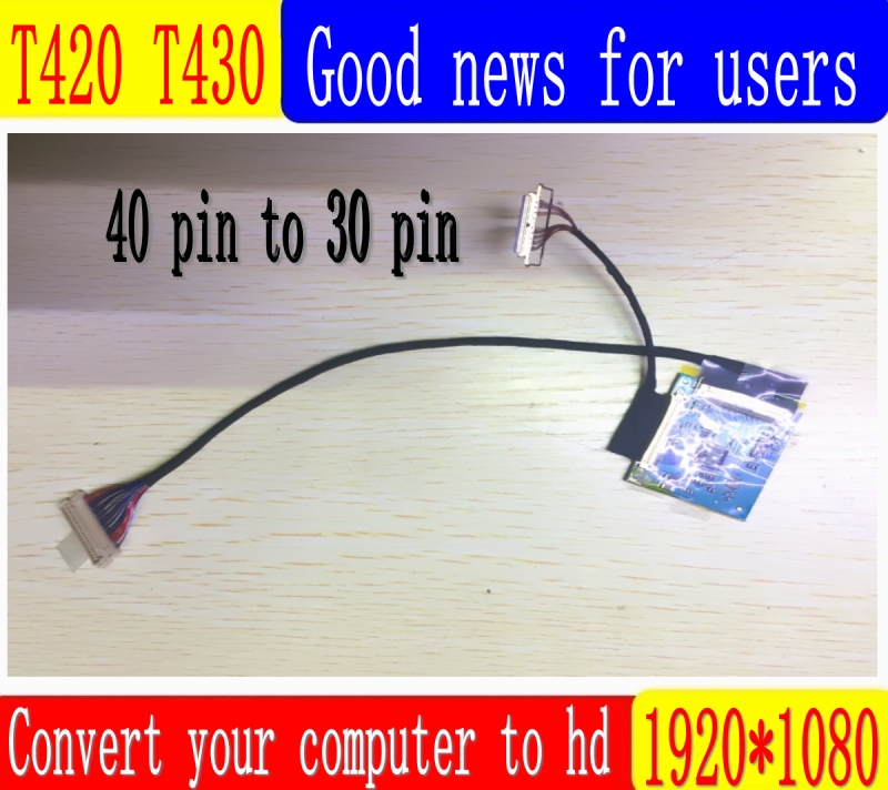 Kit de carte contrôleur LCD SANITER câble LVDS 1920X1080 IPS 1080P Kit d'écran FHD pour thinkpad T430 T420 IPS haute définition adapte