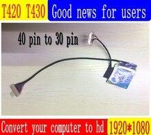 SANITER ЖК дисплей плате контроллера комплект LVDS кабель 1080 X 1080P FHD ips 1920 экран Комплект для ThinkPad T430 T420 ips Высокое разрешение adapte
