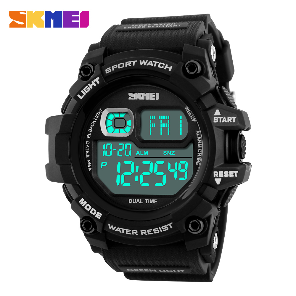 SKMEI Brand Men Watch Man LED Digital Watches Multifunction Chronograph Outdoor Sport Watch 50M Waterproof Mens Wristwatches