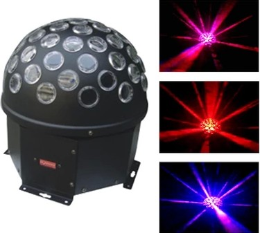 30W RGB LED DMX512 Magic Ball;Effect Light For Bar, Party, Nightclub, Disco dmx512 digital display 24ch dmx address controller dc5v 24v each ch max 3a 8 groups rgb controller