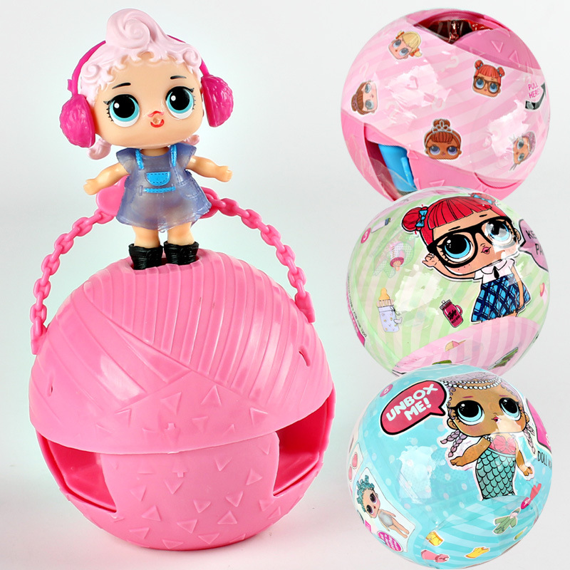 1piece 8cm LOL Magic Funny Doll Dress Toy Water Spray Action Figure Toy Doll Kids Girl Model Gift Egg Ball Doll