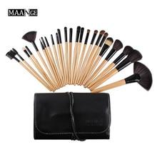Professional 24pcs Makeup Brush Set tools Make Up foundation powder blusher eyeshadow goat hair Brushes Set with pu pouch
