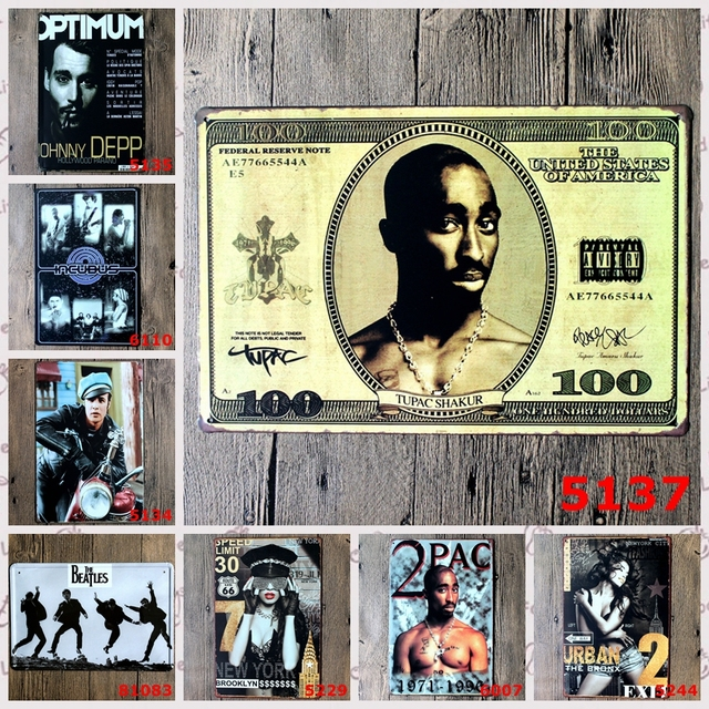Celebrity Tin Sign Logo Plaque Vintage Metal Painting Wall Sticker ...