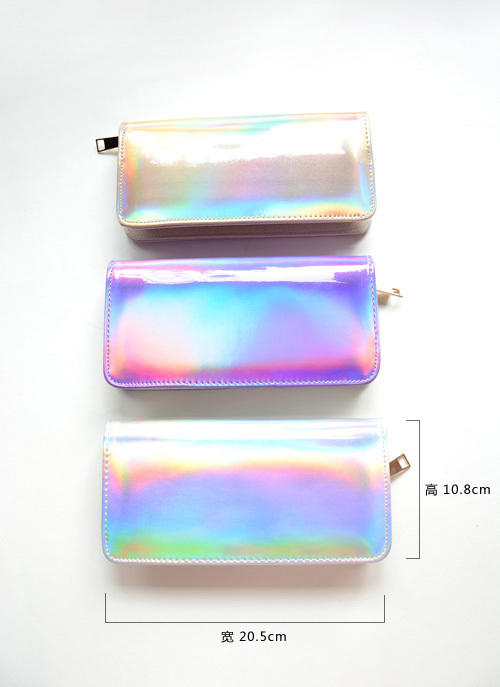 Discounts Women handbag Hologram wallet Laser Silver Bag Lady s Mini Make up Clutch Handbag hologram