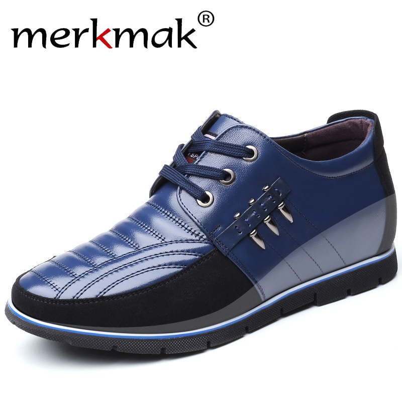Merkmak 2019 Men's Flats Shoes High Quality Plus Size Casual Shoes Soft Moccasins Safety Work Shoes Genuine Men Leather Shoes