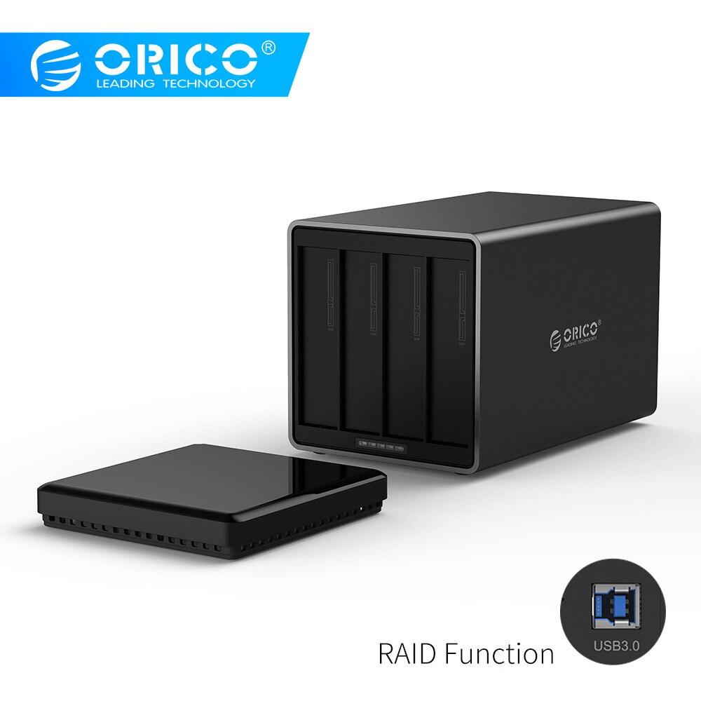 ORICO 4 baie USB3.0 Dock de disque dur avec prise en charge Raid 40 to stockage Gbps UASP avec adaptateur 12 V boîtier HDD sans outil