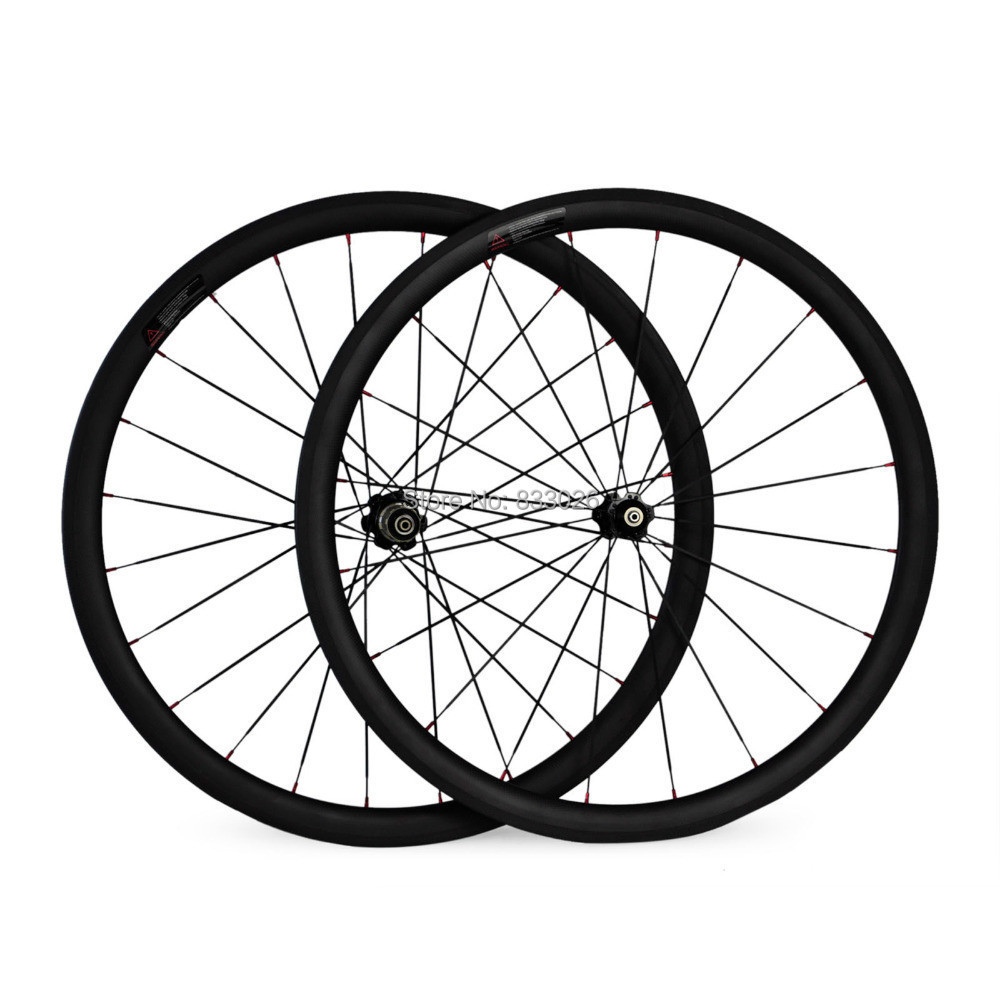 1pair Newest 700C 50mm clincher rim Road bike 3k/ud full carbon bicycle wheelset with hubs and spoke for sale