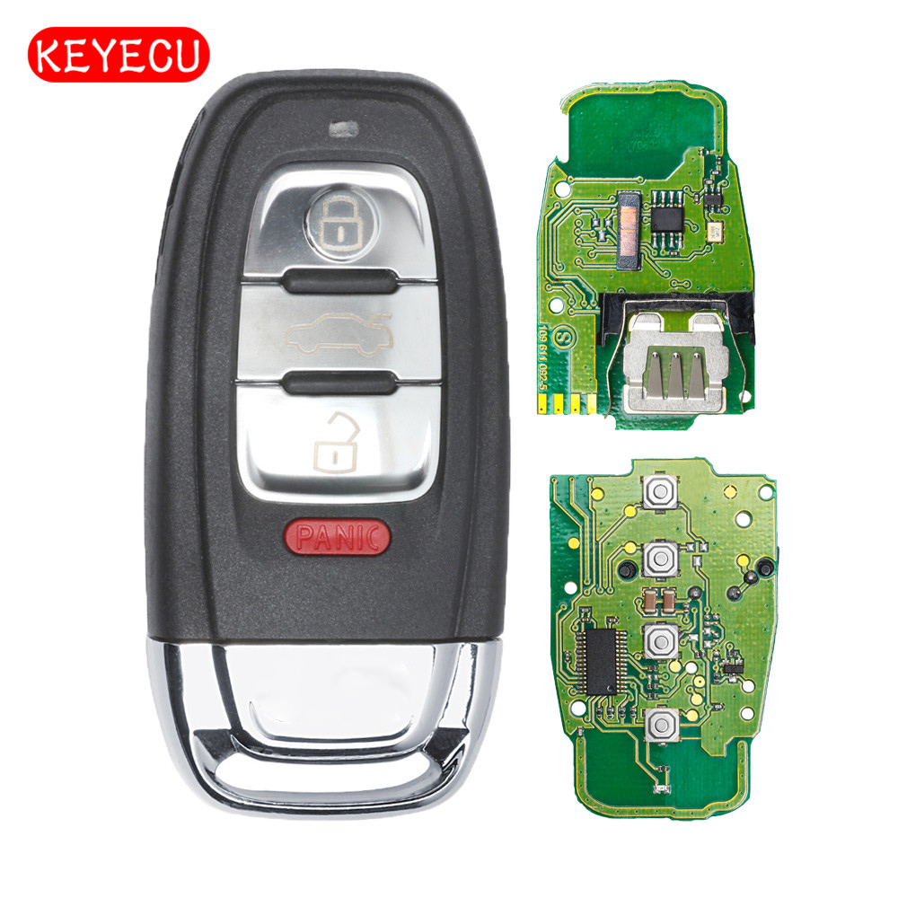 KEYECU Smart Remote Key Fob 3+1 Button 315MHz for Audi A1 A3 A4 A5 A6 A7 A8 Allroad Q3 Q5 Q7 S3 S4 S5 S6 S7 P/N IYZFBSB802