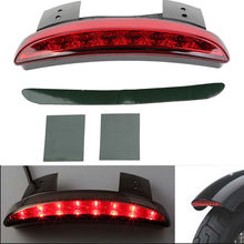 Triclicks Chopped Fender Edge LED Tail Light Motorcycl Rear Brake Lights Fit Harley Iron Sportster XL883N 1200N 1200V 06-14