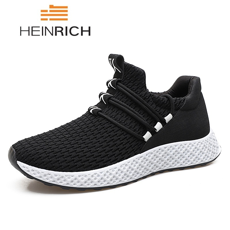 HEINRICH Breathable Comfortable Casual Shoes For Male Lace-Up Designer Sneakers Sapatos Masculinos Fashion Shoes 2018 Men