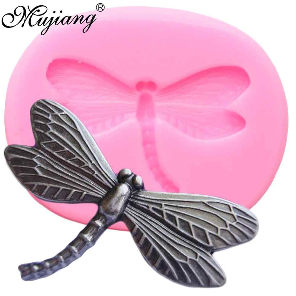 Dragonfly Silicone Molds Insect Chocolate Fondant Mold Cupcake Topper DIY Party Cake Decorating Tools Polymer Clay Candy Moulds