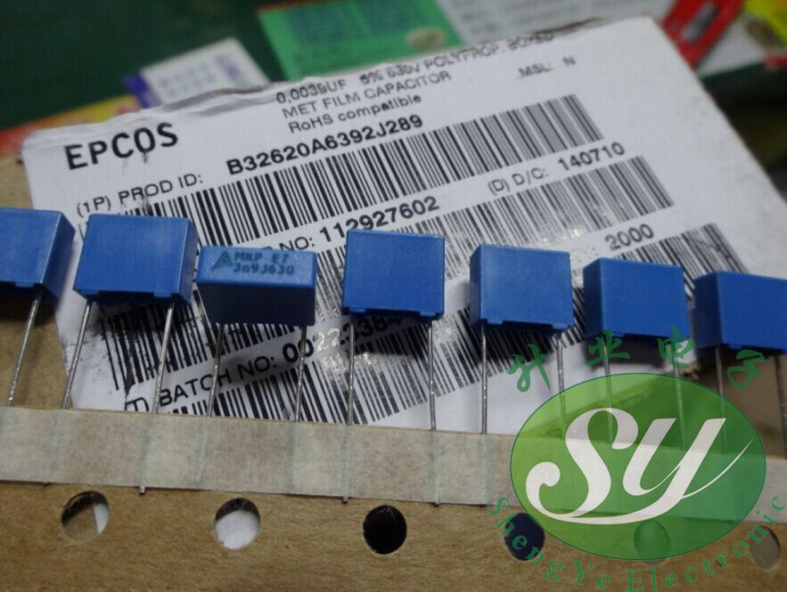 50PCS CBB 392J 2000V CBB81 3900PF 3.9NF P15 Metallized Film Capacitor