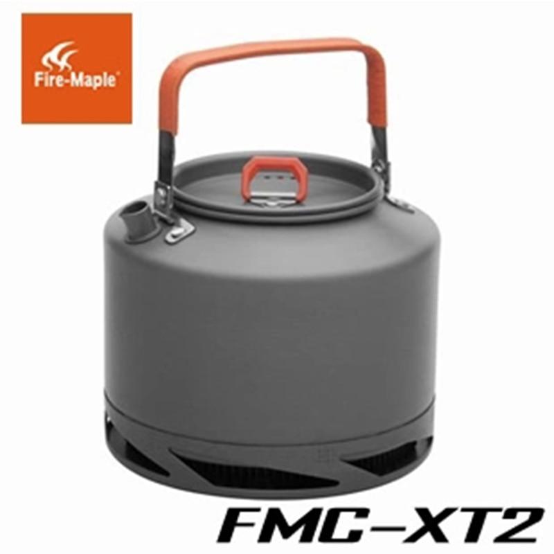 nova chegada bordo fogo fmc xt2 trocador de calor chaleira tea pot coffee pot 308g acampamento