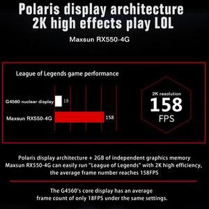 Image 3 - MAXSUN видеокарта Redon RX 550 graphic card 4G GDDR5 6000MHz 128bit 1183MHz PWM DirectX 12 HDMI+DP+DVI 512unit RX550 video card