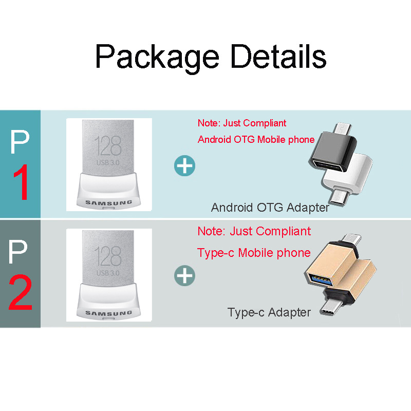 Բնօրինակ SAMSUNG USB Flash Drive սկավառակ USB3.0 128 - Արտաքին պահեստավորման սարքեր - Լուսանկար 5