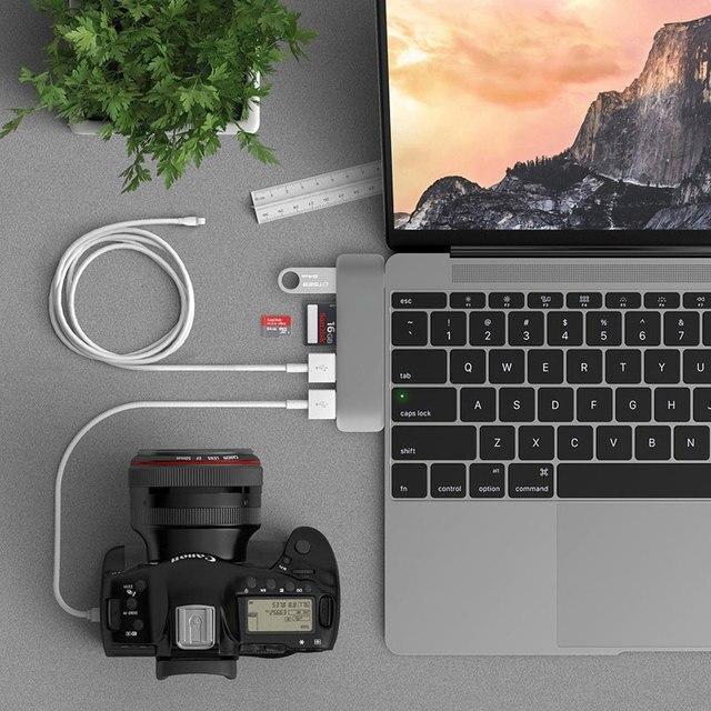 Hub USB C moable HDMI Thunderbolt 3 adattatore USB 3.1 con Slot per lettore di schede SD TF TF porta USB 3.0 per MacBook Pro/Air tipo-c Hub 2