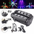 24W RGBW Stage Lighting 4 In 1 DMX512 LED Spider Beam Moving Head Stage Lighting DJ Party Disco Bar KTV AC90-240V EU/US/UK Plug