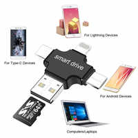 OTG USB Flash Drive Micro SD/TF Card 8GB 16GB 32GB Card Reader for Iphone/Android/Type C 3 in 1 OTG Pen Drive 64GB Memory Card