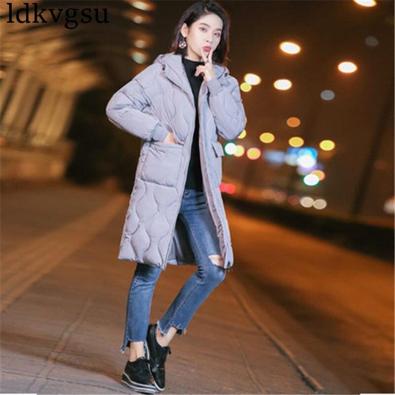 De Vestes gray Parkas Capuchon 2018 Gris Femmes Mode Et Pour 1121 Beige À brown Noir Manteaux Survêtement L'automne Hiver black Pzvxwq5Ux