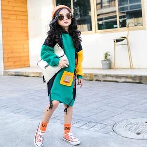 Image 4 - 새로운 히트 컬러 코튼 겨울 따뜻한 스웨터 여자 플러스 벨벳 십대 소녀 후드 두꺼운 아이 티셔츠 어린이 의류