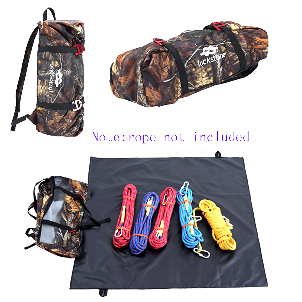 Climbing Rope Bag Backpack with Ground Sheet for Mountaineering Equipment Storage Ultra light Folding Gear Bag & Shoulder Straps|Climbing Accessories| |  - title=